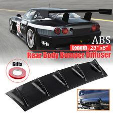 "23"" x 6"" Carbon Style Universal Rear Bumper Lip Diffuser 5 Fin Gloss Black ABS"