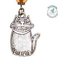 Halskette Anhänger Katze Kater Retro Cartoon Amulett Glücksbringer Geschenkidee