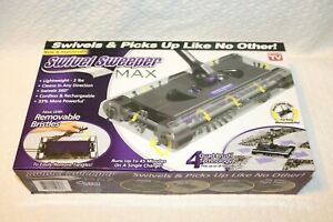 OnTel Products SWSMAX Max Cordless Swivel Sweeper Floor Cleaner Vacuum, New