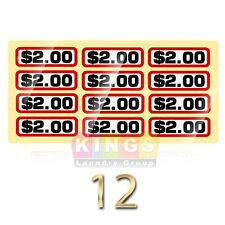 12PK GLOSSY SLIDE DECAL $2.00 For GREENWALD Wascomat, Ipso, Huebsch, 00-9104-26