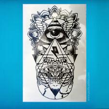 Greek Eye Freemasons Illuminati Egyptian Pyramid Skull Mystic Symbolism Tattoo