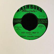 BLACK GOSPEL 45 Mighty Golden Tones Nashboro 874 Just Can't Help It