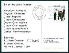 Spain dinosaur 2012 dinosaure dinosaurios Custom Stamp-only 5 cards made! ch32