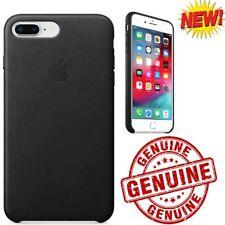 Genuine / OEM Apple iPhone 7 Plus iPhone 8 Plus Leather Case Snap Cover Black