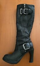 Alexander Wang Black Leather Knee Boots Size 5.5