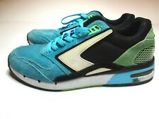 Brooks Heritage Fusion Cyan Blue/Black/Green Flash Sneakers Mens Size 8.5