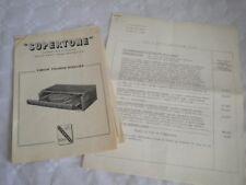 Vintage catalogue Brochures Supertone electric gramophones record players 1952