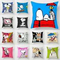 Home Decor Cute Dog Snoopy Pillow Case Car Bedroom Sofa Pillowcase Cushion Cover