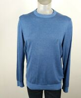 Nautica Blue Cotton Blend Crew Neck Sweater Jumper Medium
