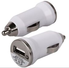 WHITE SMALL MINI TRAVEL IN CAR USB CHARGER ADAPTOR PLUG FOR HTC WINDOWS PHONE 8X