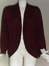 Liz claiborne Shawl Collar Cardigan Sweater Long Sleeves Plus Red/Beige 2X3X NEW