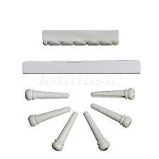 1Set of Classical Guitar Bone Bridge Pins & Saddle & Nut Guitar Parts
