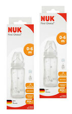 Nuk First Choice Plus Fireworks Silicone Teat S1 300ml Bottle-PACK-2