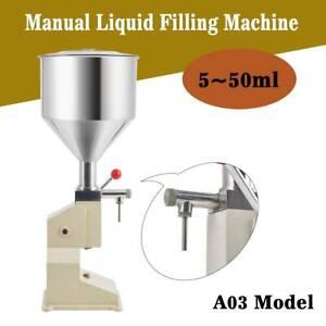 5-50ml Manual Paste Oil Cream Filling Machine Low-dose Paste Liquid Filler in AU