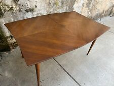 John Stuart Mid Century Walnut Modern Dining Table