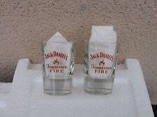 2 SHOT GLASS FIRE --  NEUF -----RARE   ---JACK DANIEL'S