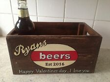 Fathers Day Gift Personalised Beer Crate Handcrafted Any Name Sentiment