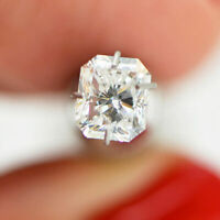 Loose Diamond Radiant Shaped 1.06 Carat White F/VS2 Natural Enhanced For Ring