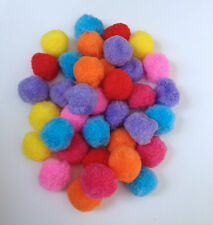 "100 pcs 1 1/2"" Large Pom Poms pompoms balls pompom Craft Ball supplies big multi"