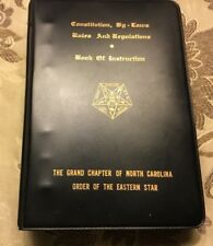 CONSTITUTION , BY-LAWS RULES & REGULATIONS Eastern Star Gr. Lodge Of NC 1989 VGC
