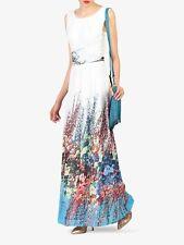 Jolie Moi White Floral Print Chiffon Maxi Dress - Size: UK 10