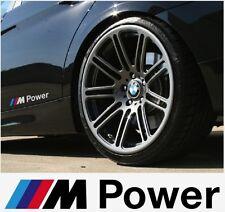 2x BMW M Power Aufkleber Seiten Sticker 140mm Set Weiss