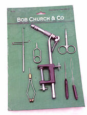 Bob Church Beginners Fly Tying Tool Kit ideal for tying Trout-Salmon-Bass Flies