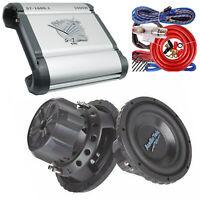 "Soundxtreme ST-1600.1 1600 Watt + 1x Audiotek AT-12PRO 12"" 1500W Subs + Amp Kit"