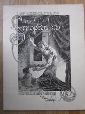 Berni Wrightson cartera Frankenstein III 6 b/w plates + Folder signed!