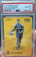 HOT 2019/20 NBA HOOPS #2 ZION WILLIAMSON ROOKIE ARRIVING NOW PSA 10 GEM MINT RC