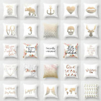 Polyester Letter Pillow Case Cover Sofa Car Waist Cushion Cover Home Decor Magic