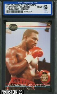 1991 Players International Ringlords Boxing #1 Evander Holyfield ISA 9 MINT