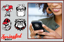 Georgia Bulldogs MASCOT STICKERS COMBO 4 pack Vinyl Decals Car Truck iPhone UGA