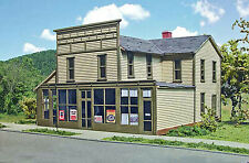 ROSCOE STORE HO Model Railroad Structure Building Unpainted Laser Wood Kit LA643