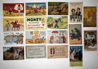 LOT OF 17 COMIC    POSTCARDS  POLICE RISQUE ETC