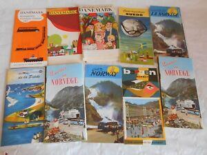 Vintage travel brochure collection scandanavian denmark norway sweden 1950/60s