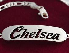 Namensarmband 'Chelsea' 18K Silber Beschichtet | für Mutter Schwester Freundin