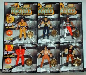 "Vintage BanDai WMAC MASTERS Real Martial Arts - Set of 6 Action Figures 5"" MOC"