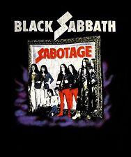 BLACK SABBATH cd cvr SABOTAGE VINTAGE Official SHIRT XXL 2X New ozzy osbourne