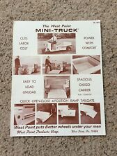 1968 West point products corp. Mini Truck sales information.