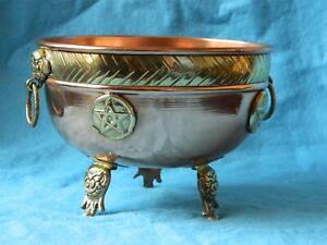Large Copper Pentagram Offering/Altar/ Bowl/Cauldron/Witch/Pagan/Altar/Ritual