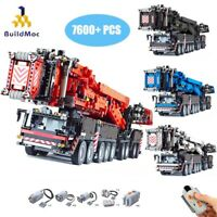Moc Bricks for Liebherr LTM11200 Crane Final 15 Building Blocks Technic Motors