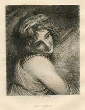 "Paul RAJON / George ROMNEY etching ""Lady Hamilton"""