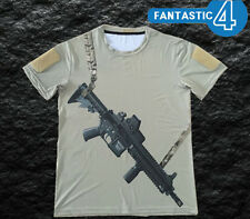 Medium Tan Navy Seals Insta-operator HK416 T-Shirt lone survivor devgru rahg
