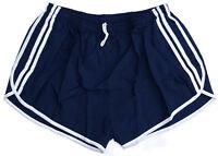Vintage '90s French Army Shorts Dark Navy White Stripes Hot Pants Retro Running