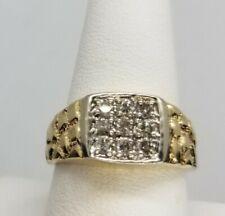 Mens Diamond Ring In 10k Gold Size 9