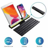 Multi-device Bluetooth Keyboard For iPad iPhone Tablet Phone Portable Foldable