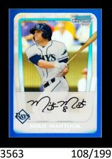 1-2011 BOWMAN CHROME DRAFT BLUE REFRACTOR MIKIE MAHTOOK TIGERS /199 QTY