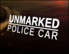 UNMARKED POLICE JDM Decal vinyl sticker, VW Japan Euro Drift funny Mazda Nissan
