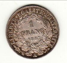 1 FRANC ARGENT CERES 1887 A  SUP  RARE    B1 T 7